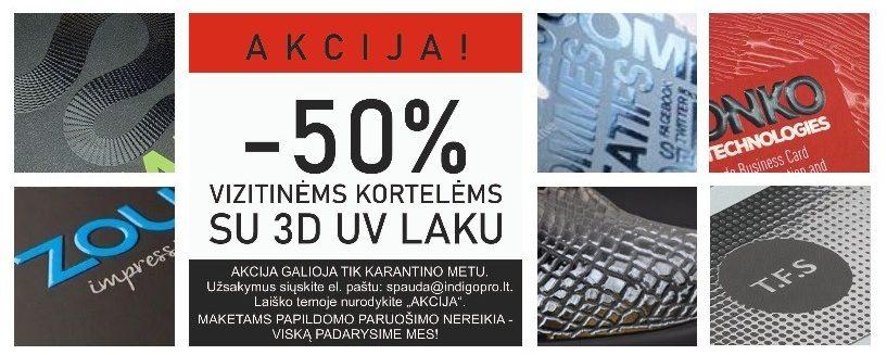 Indigo 3D uv spauda